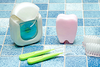 デンタルフロス・歯間ブラシによる清掃・専用の機器による研磨